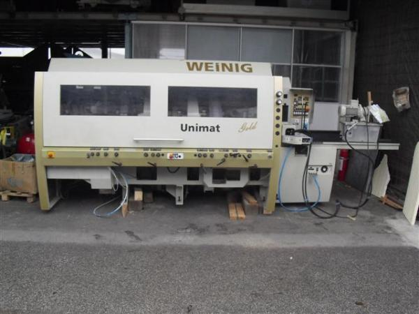 Four Side Planer, 7-Spindle Moulder WEINIG UNIMAT Gold + WEINIG EM11 Magazine - SOLD